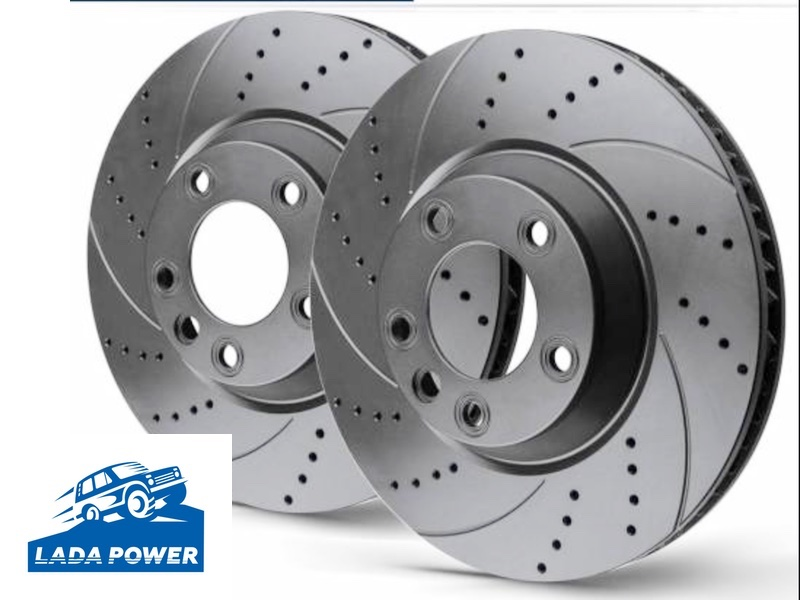 Lada 2101-2107 Tuning Upgrade Brake Set With Perforation and Slotting